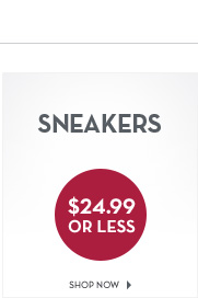 Sneakers $24.99 or less