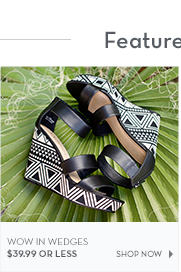 Wedges $39.99 or less