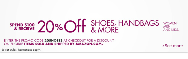 Amazon online coupons for shoes