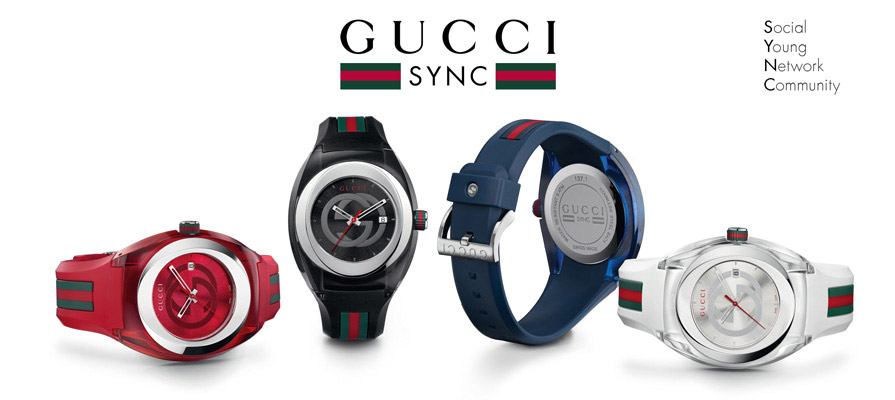 Amazon.com: Gucci SYNC L YA137301 Stainless Steel Watch with Black