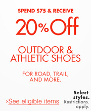 20% Off Athletic & Outdoor Shoes
