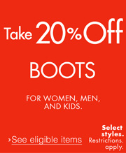 20% Off Boots