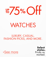 Up to 75% Off Watches
