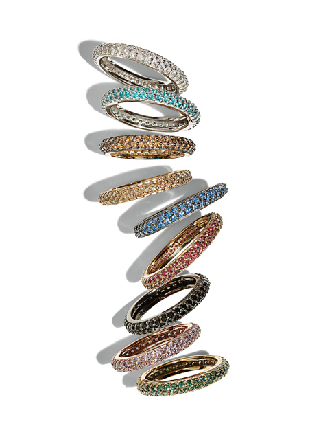 Beautiful Swarovski crystal stackable rings