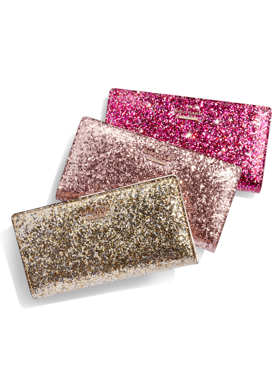kate spade glitter wallets - only $51 with code:  THRILL