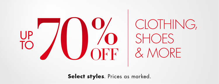 Up to 70% Off Clothing Shoes and More