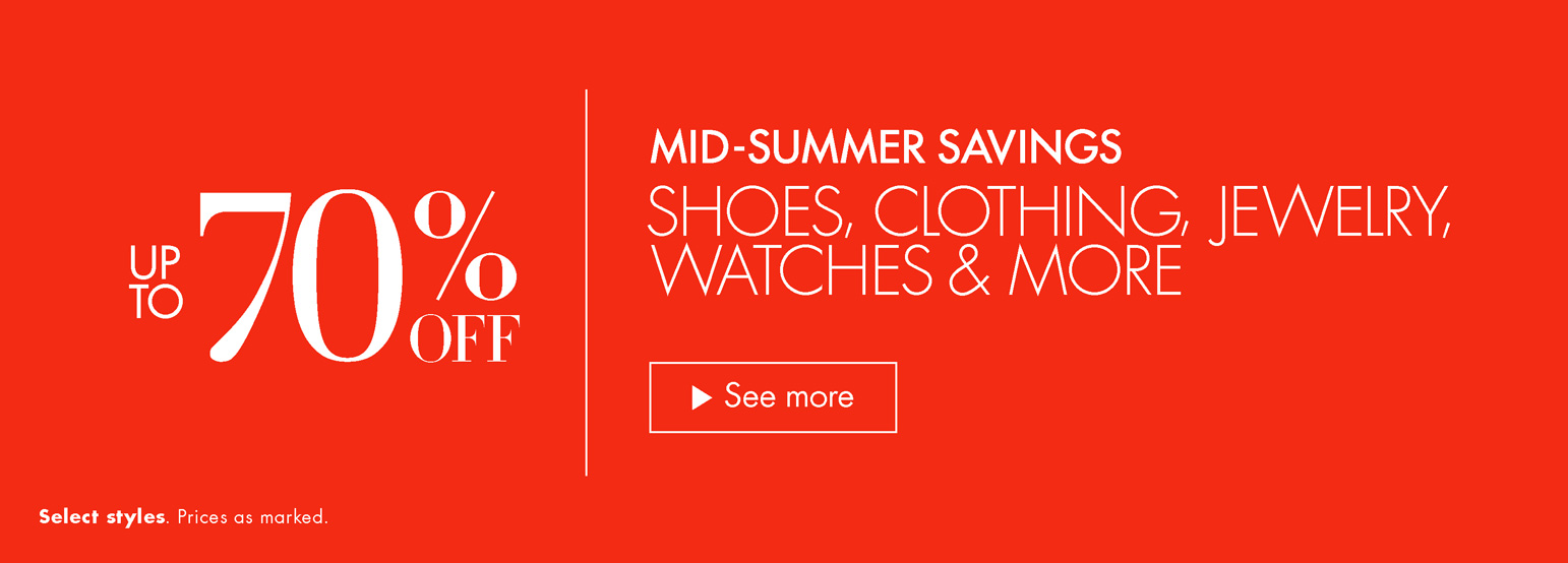 Up to 70% Off Mid-Summer Savings