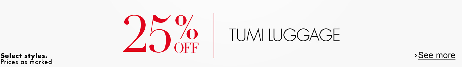 25% off Tumi Luggage