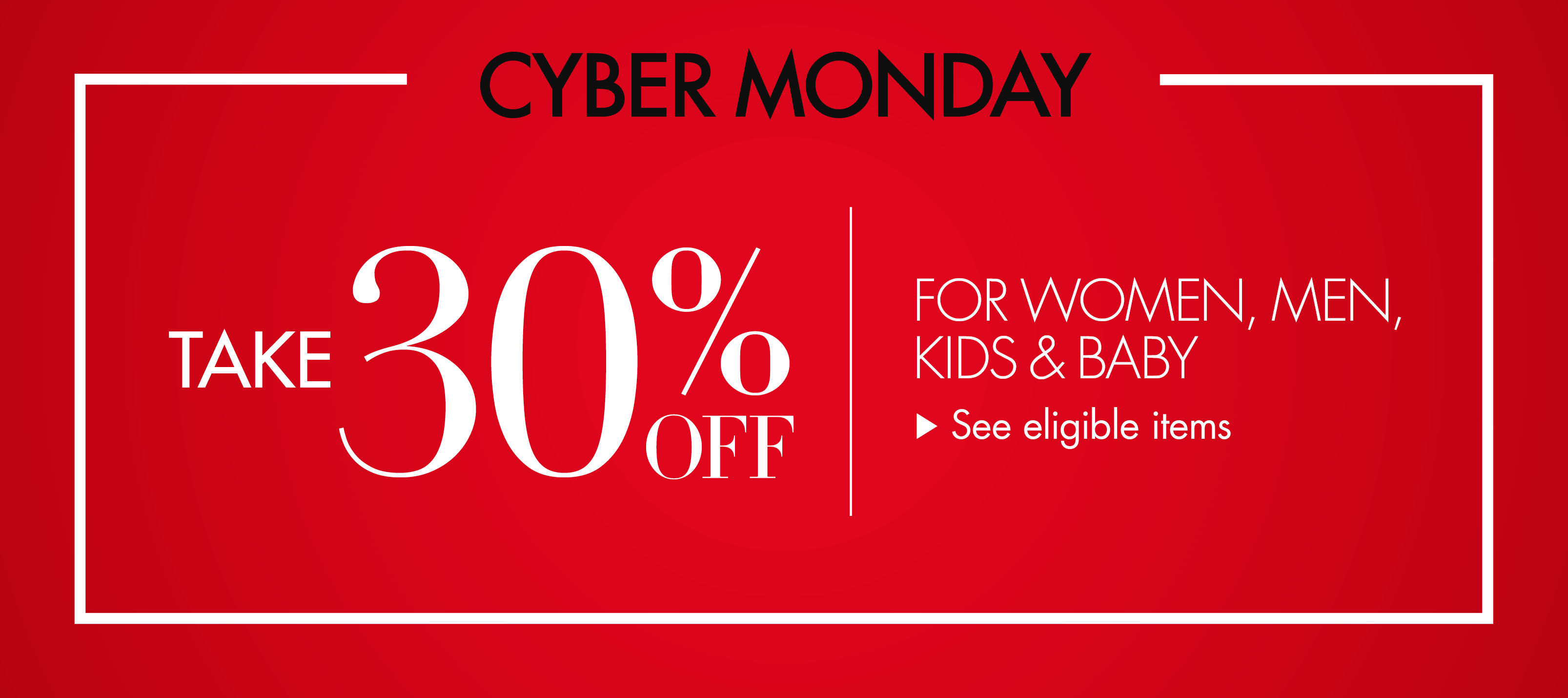 Cyber Monday Take 30% Off