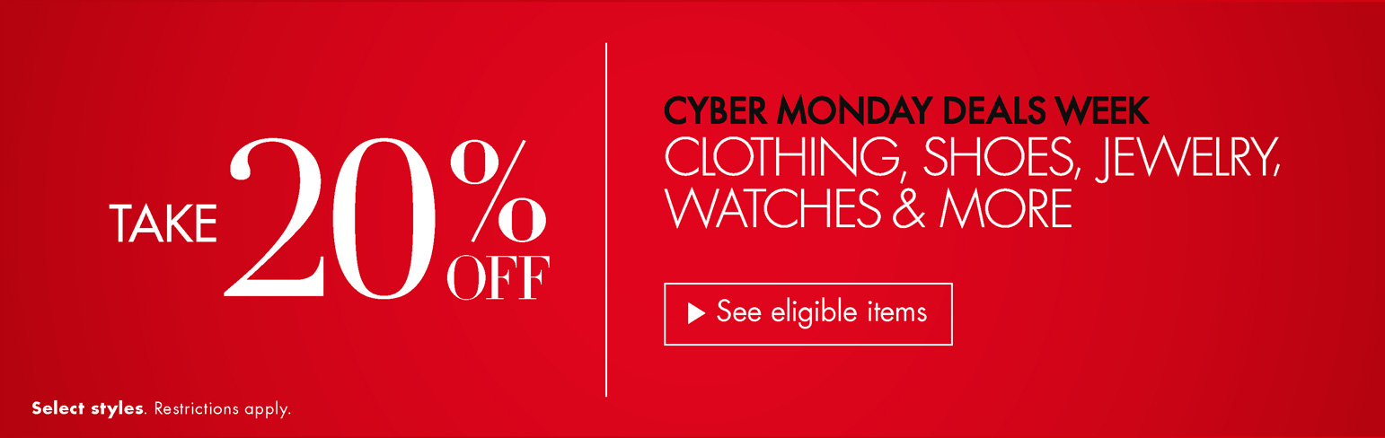 20% Off Cyber Monday Deals Week
