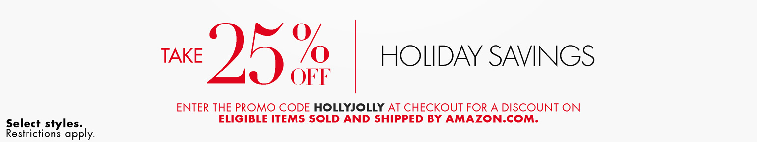 extra 25 off promo code hollyjolly for clothing shoes