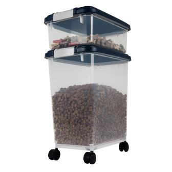 While I had a tiny cute pet food tin in my old place Iu0027ve upgraded in size to one of these Pet Food Containers ($20 and up) from The Container Store.  sc 1 st  Amazon S3 & German shepherd videos attack bulk dog food storage containers pet ...