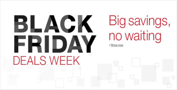 Advance Notice to Black Friday Deals Week - Link Now