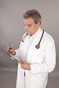 Doctor wearing stethoscope