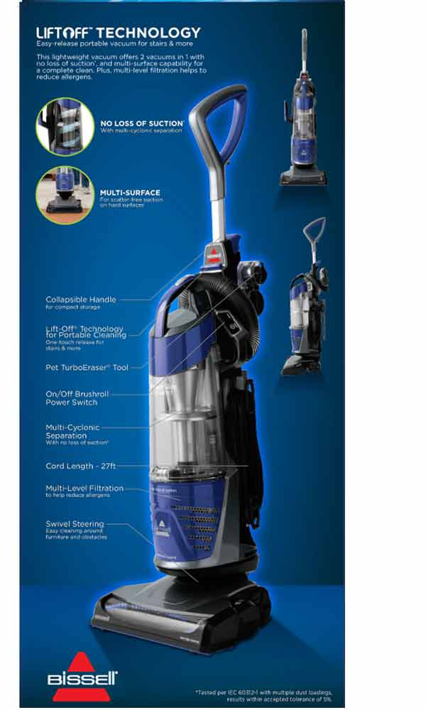 Amazon Com Bissell Powerglide Pet Bagless Upright Vacuum