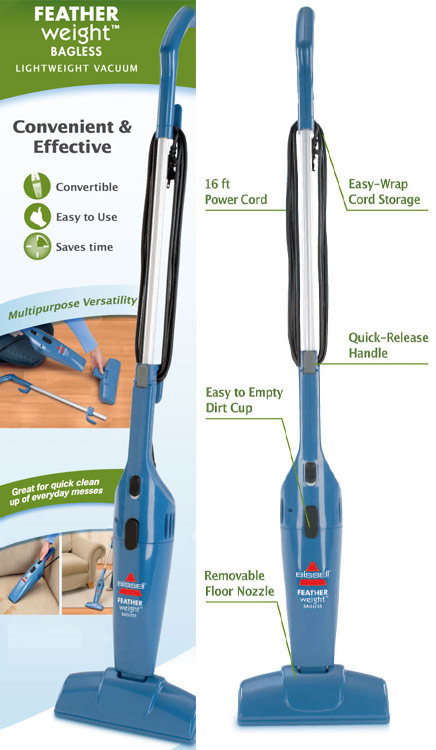 Removable Floor Nozzle Remove For Use As Hand Vacuum