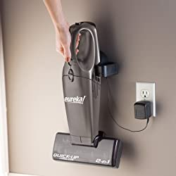 Eureka Quick Up Cordless - charger mounts on wall