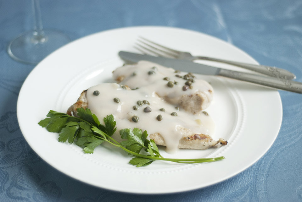... the recipe for Crawley Family Chicken Breasts with Caper Cream Sauce