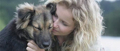 Milk Bone Woman hugging dog