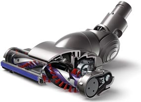 The Dyson DC44 Motorized Floor Tool with carbon fiber filaments