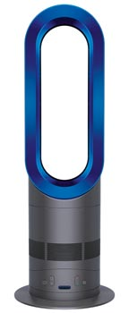 the dyson am04 hot cool fan heater in iron blue. Black Bedroom Furniture Sets. Home Design Ideas