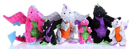 group shot of Dragons plush toys