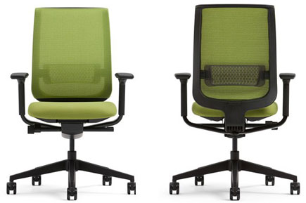 Steelcase Reply Chair Front And Back View