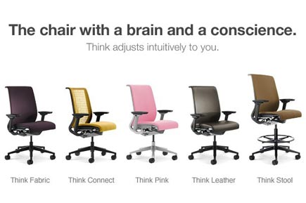 Steelcase Think Chair View of different colors