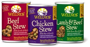 group shot of canned stew flavors