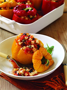 Pasta-Stuffed Peppers