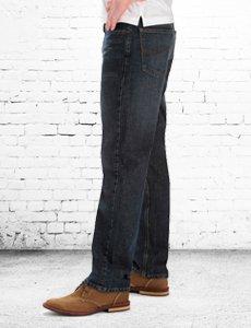 "Straight fit, 16.5"" leg opening"