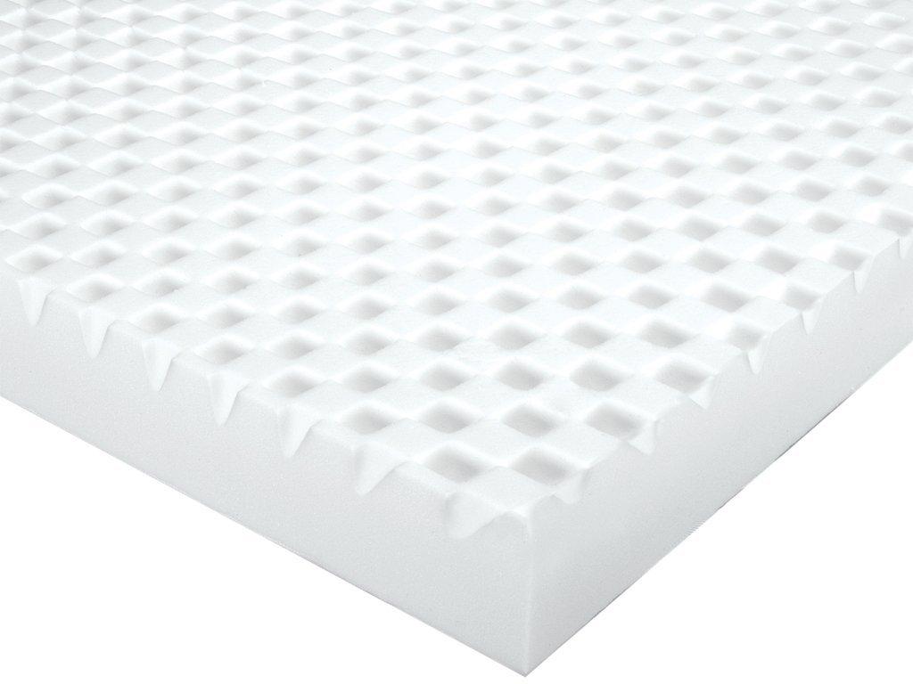 sleep innovations 3 inch sculpted memory foam queen mattress topper foam topper. Black Bedroom Furniture Sets. Home Design Ideas