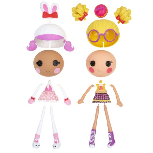 double packs come with 2 sets of everything to make 2 different dolls.