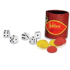 score the most points by rolling five dice