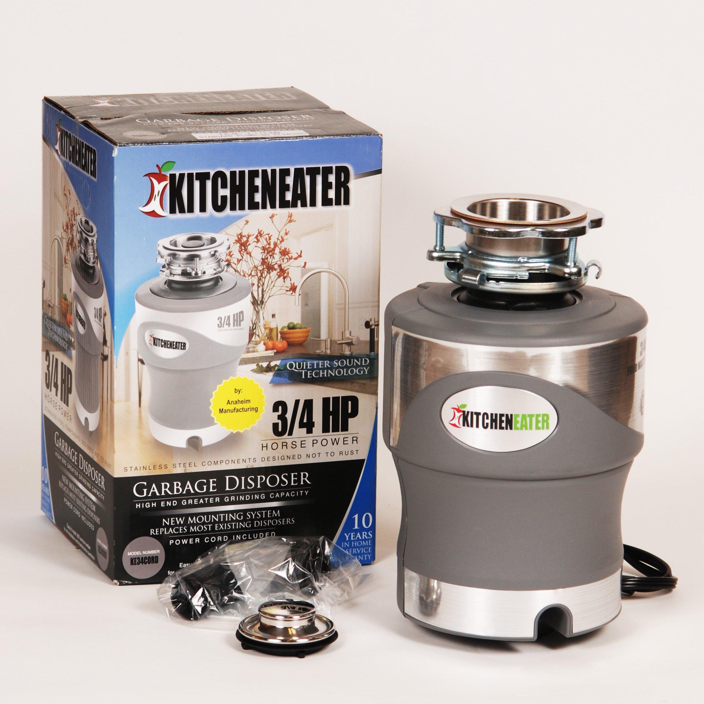 Kitcheneater Ke34pc 3 4 Hp Garbage Disposer Food Waste