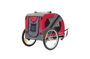 Novel trailer with large back pouch and pocket