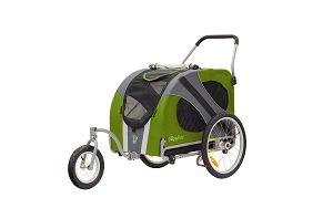 Novel jogger-stroller in green