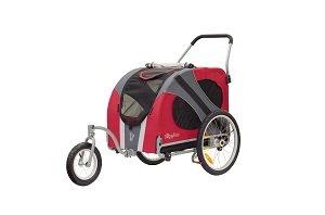 Novel jogger-stroller in red