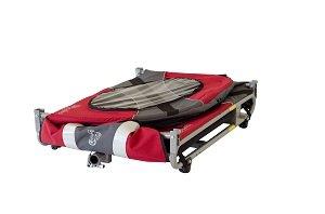 Novel jogger-stroller folded flat