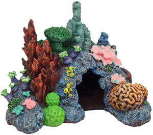 Caribbean Living Reef Aquarium Ornament, Mini.
