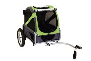 Mini bike trailer in green