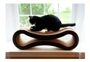 Scratching. V371965085  PetFusion Cat Scratcher Lounge, Walnut Brown