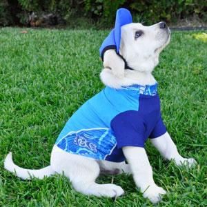 PlayaPup Tiki Cobalt Shirt