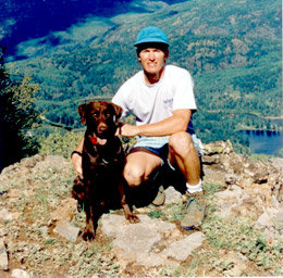 Where it all began - Patrick and Zuke at Elbert Creek Overlook