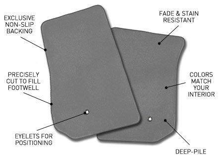 Coverking Custom Fit Front Floor Mats for Select Chevrolet Bel Air Models Nylon Carpet Black