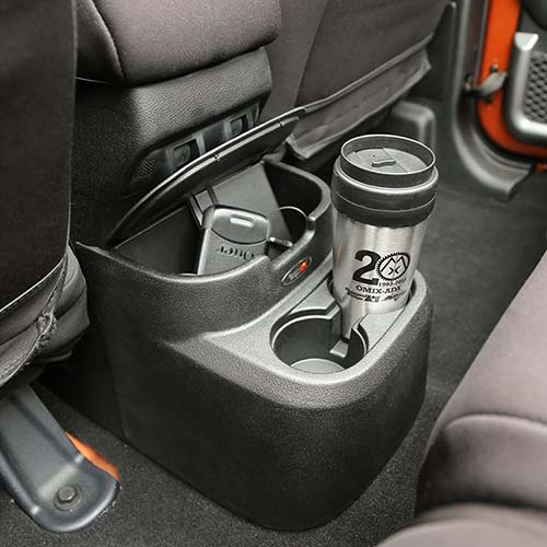 Back seat console organizer