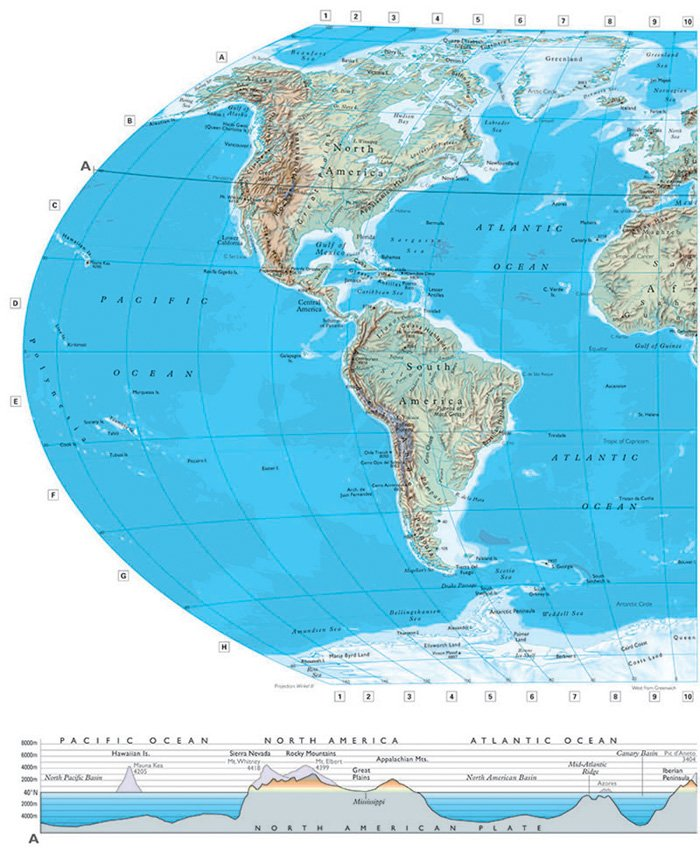 Map western hemisphere on Shoppinder