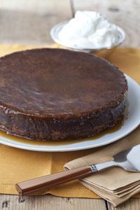 Sticky Toffee Date Cake with Bourbon Glaze