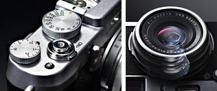 The design of the FUJIFILM X100S prioritizes photographing
