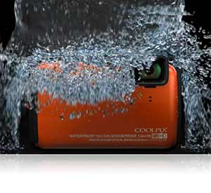 Nikon COOLPIX AW120 16 MP Wi-Fi and Waterproof Digital Camera with GPS and Full HD 1080p